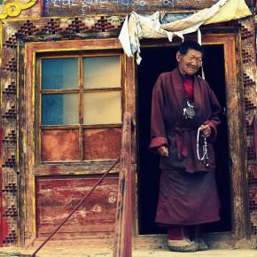 I kloster i Tibet
