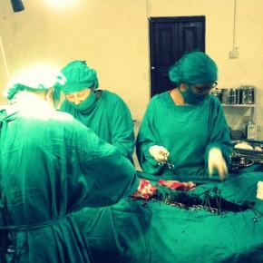 Den første operation herude